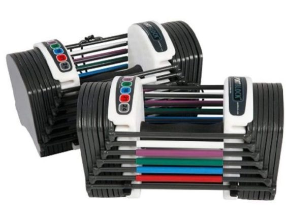 12.PowerBlock Sport 24 Adjustable Dumbbell, 24 lbs (Pack of 2)
