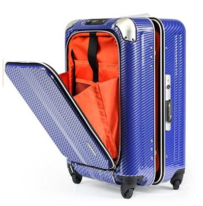 14.Enkloze X1 Carbon Carry-On 21 Spinner 100% PC TSA Approved Front Loading Zipperless
