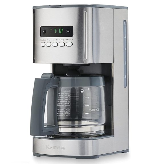 14.Kenmore 40706 12-Cup Programmable Aroma Control Coffee Maker in Stainless Steel
