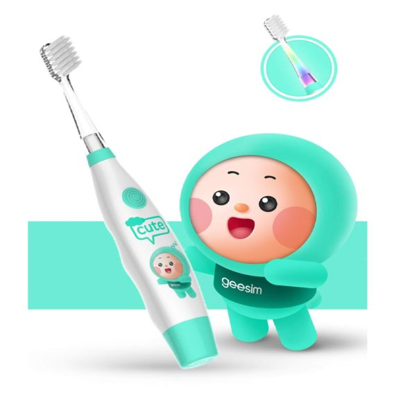 14.kids& Baby Toothbrush Electric Sonic Battery Powered With Smart Timer and Colorful LED, Baby &kids Electric Toothbrushes—Baby Sonic Toothbtush(BLUE) (Blue)