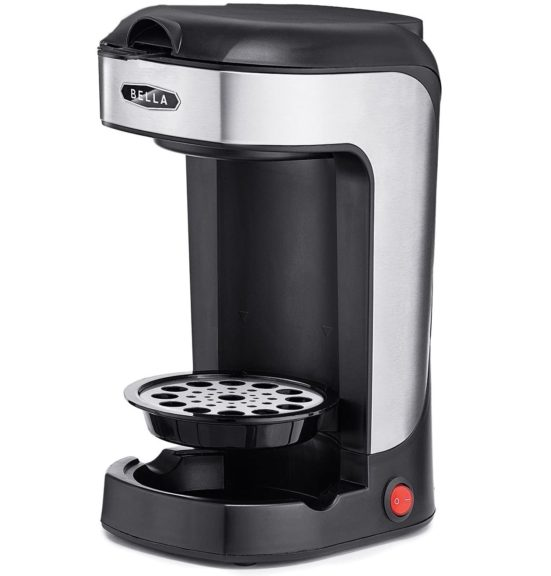 15.BELLA (14436) One Scoop One Cup Coffee Maker, Black and Stainless Steel