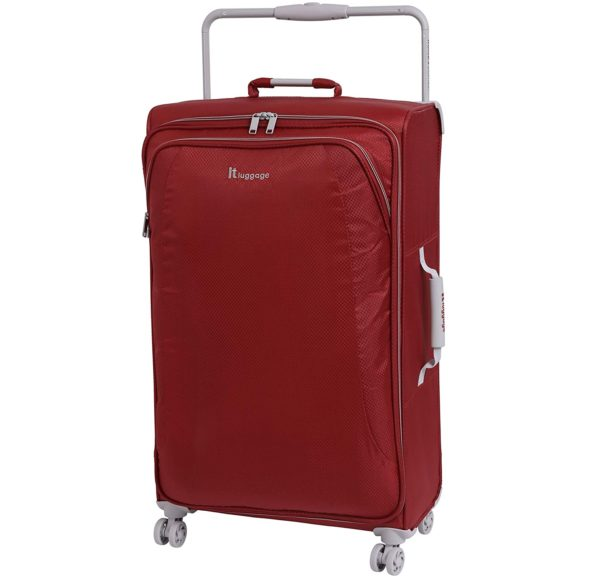 15.IT Luggage 31.5 World's Lightest 8 Wheel Spinner, Bossa Nova With Vapor Blue Trim, One Size
