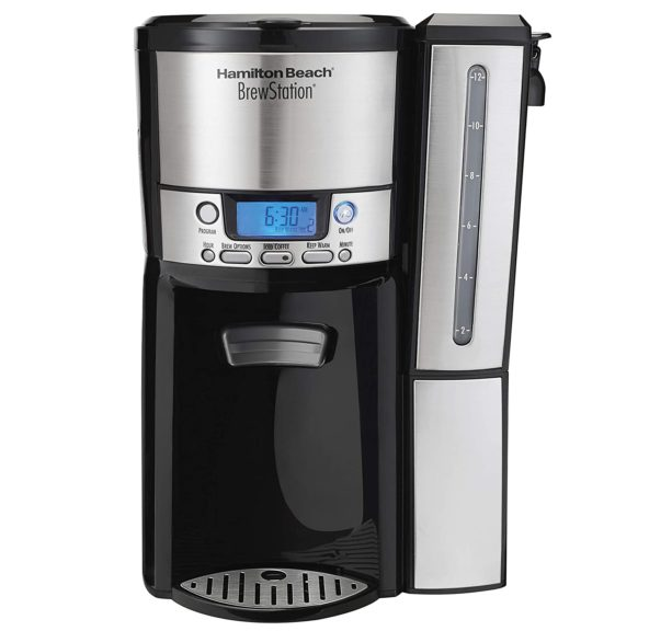 2.Hamilton Beach (47950) Coffee Maker with 12 Cup Capacity & Internal Storage