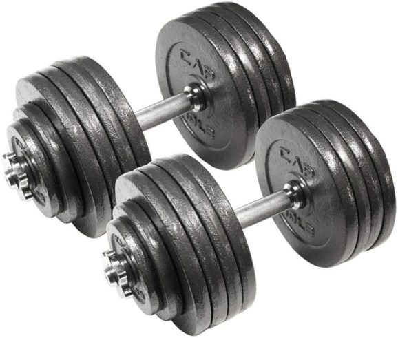 3.CAP Barbell Adjustable Dumbbell Set, 40 to 200 Pounds