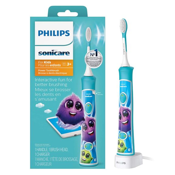 3.Philips Sonicare HX6321 02 Sonicare for Kids Rechargeable Electric Toothbrush, Blue