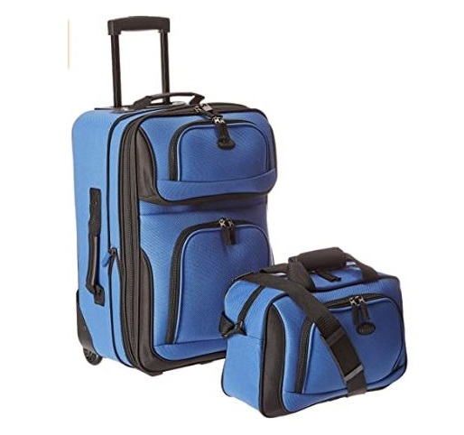 4.U.S. Traveler Rio Carry-on Lightweight Expandable Rolling Luggage Suitcase Set