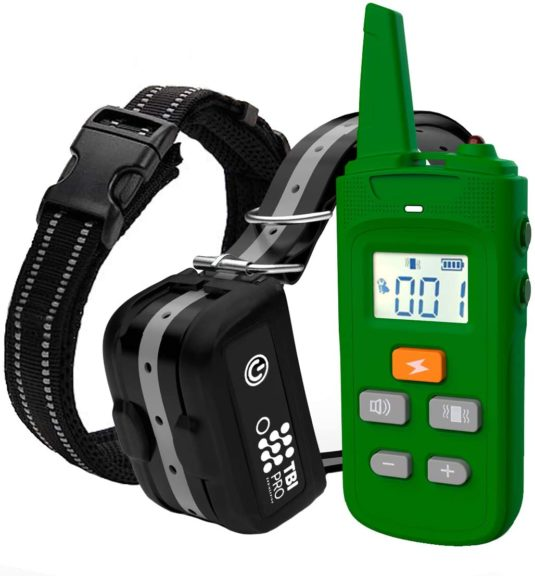 5. TBI Pro Professional K9 Dog Training Collar with Remote Long-Range E-Collar with Vibration Control