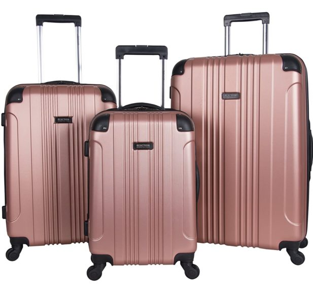 5.Kenneth Cole Reaction Out Of Bounds 3-Piece Lightweight Hardside 4-Wheel Spinner Luggage Set