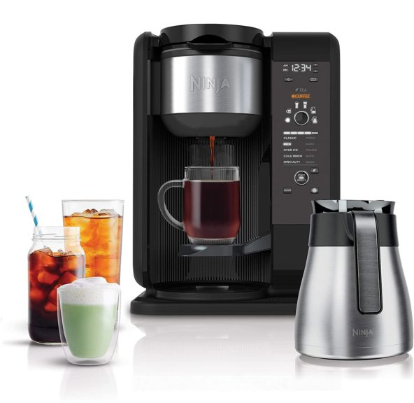 9.Ninja Hot and Cold Brewed System, Auto-iQ Tea and Coffee Maker with 6 Brew Sizes
