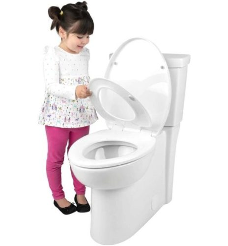 Adult Child Toilet Seat ELONGATED BATH ROYALE BR631B-FFP White