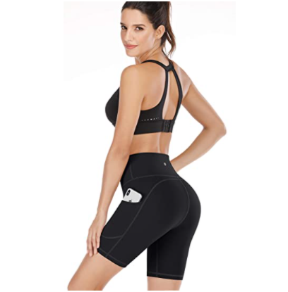 IUGA Workout Shorts for Women with Pockets High Waisted Biker Shorts