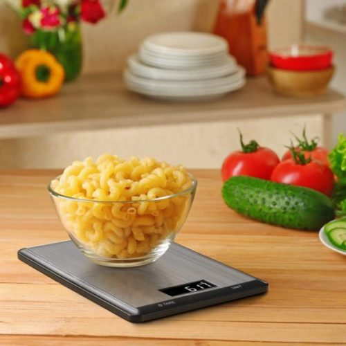 LanSheng Food Scale, 10kg,1g Digital Kitchen Scale Weight Grams and oz for Cooking Baking
