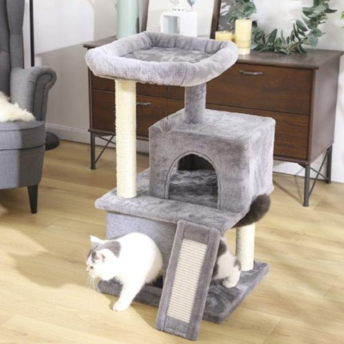 PAWZ Road Cat Tree Luxury Cat Tower with Double Condos