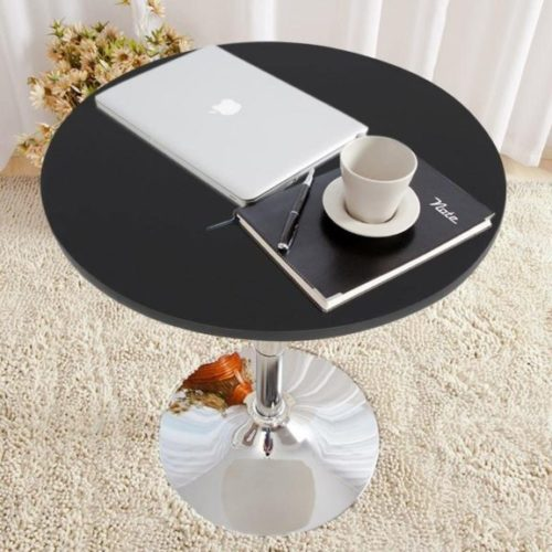Topeakmart Adjustable Round Pub Table Counter Bar Height MDF Top Table