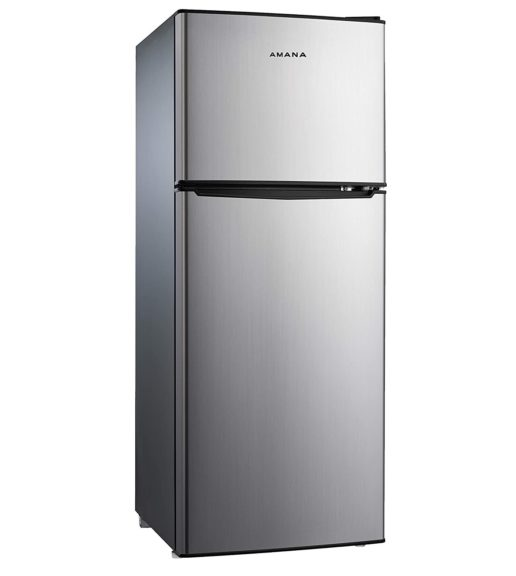 11. AMANA AMAR46TS1E Compact Refrigerator, Dual Door Fridge Adjustable Mechanical Thermostat