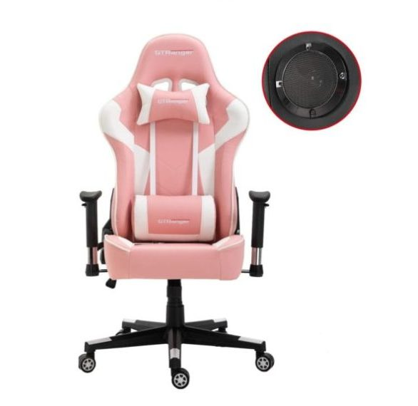 11. Gaming Chair with Speakers Video Game Chair Racing Style Ergonomic Office Chair