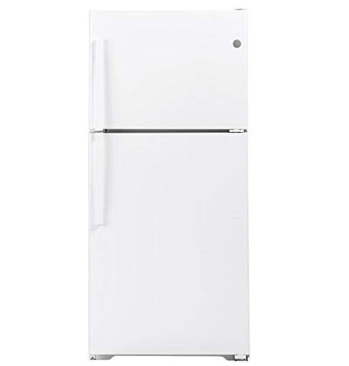 12. GE 33 Inch Freestanding Top Freezer Refrigerator with 21.93 cu. ft. Total Capacity