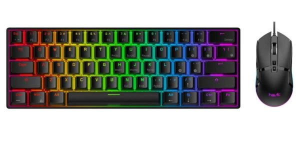 12. Havit 60% Wireless Mechanical Keyboard and Wired Mouse