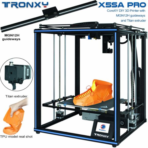 14. X5SA PRO 3D Printer with Titan, Core XY Structure with Industrial Linear Guide