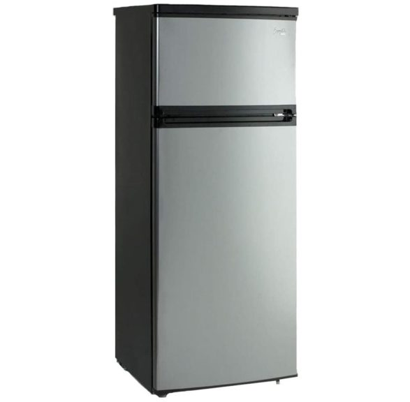 2. Avanti RA7316PST 2-Door Apartment Size Refrigerator, Black with Platinum Finish