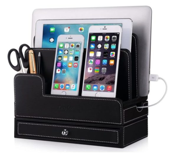 2. EasyAcc Charging Stations for RAVPower 60W 12A 6-Port Multiple Devices Double-Deck Docking Station Organizer
