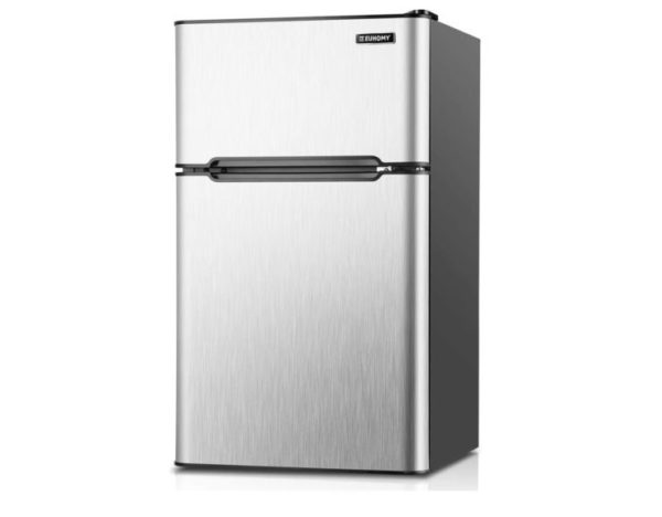 3. Euhomy Mini Fridge with Freezer, 3.2 Cu.Ft Compact Refrigerator with freezer, 2 Door Mini Fridge with freezer
