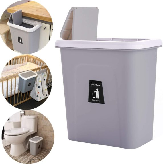 3. KARYHOME Hanging Trash Can for Kitchen Cabinet and Office