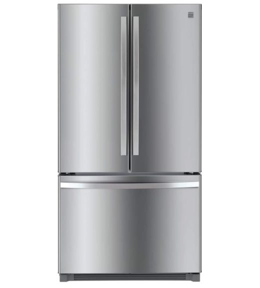 4. Kenmore 4673025 Alexa Capabilities 04673025 26.1 cu.ft. Non-Dispense French Door Refrigerator with Active Finish