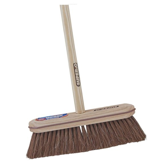 4. Superio Kitchen and Home Horsehair Broom With Wood Handle