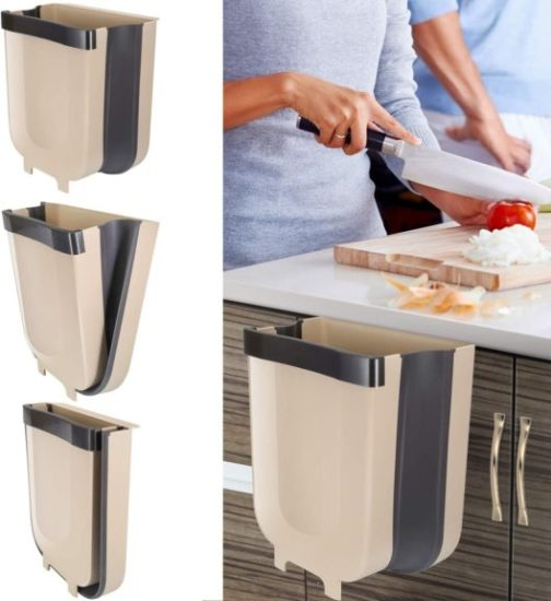 5. Braoses Hanging Trash Can for Kitchen Cabinet Door