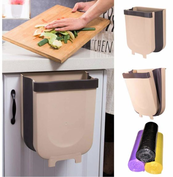 6. Hanging Trash Can for Kitchen Cabinet Door