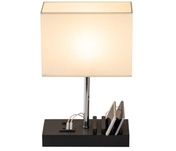 6. USB Table Lamp, Briever Multi-Functional Desk Lamp with 3 USB Charging Ports and Phone Charge Dock