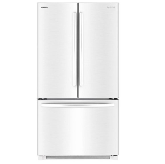 7. Daewoo RFS-26ABW French Door Bottom Mount Refrigerator, 26 Cu Ft, White, includes delivery and hookup