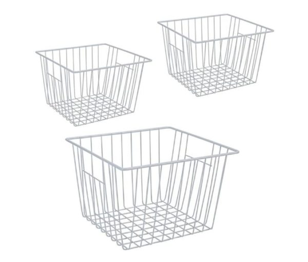 10. Freezer Wire Organizer Basket, Deep Wire Basket for Upright Refrigerator Freezer