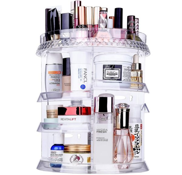 10. Miserwe Makeup Organizer 360 Degree Rotation 7 Layers Adjustable Storage
