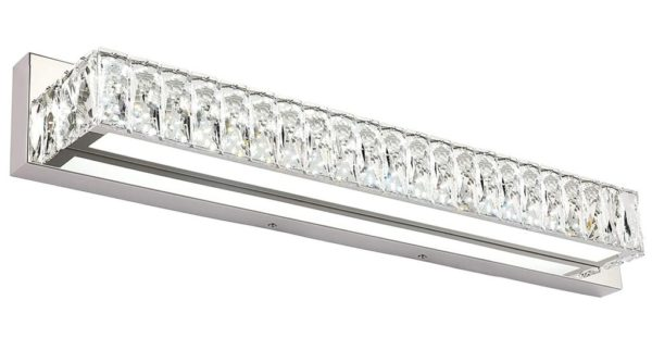 10. ZUZITO 30 inch LED Bathroom Crystal Vanity Lighting Fixtures Over Mirror Modern Bath Bar Lights Lamp