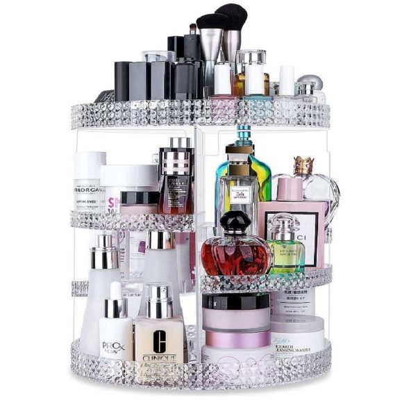 11. Awenia Makeup Organizer 360-Degree Rotating, Adjustable Makeup Storage