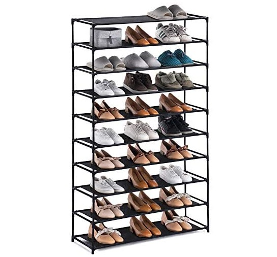 11. YOUDESURE 10 Tiers Shoe Rack, Large Shoe Rack Organizer for 50 Pairs