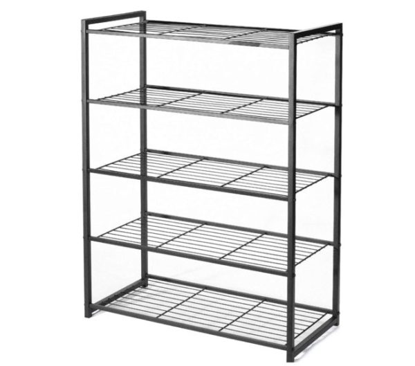 12. HOUSE DAY 5 Tier Shoe Rack Organizer Entryway Shoe Storage