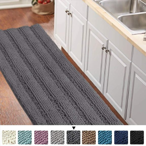 13. Bathroom Runner Rug Oversize Non-Slip Bathroom Rug Shag Shower