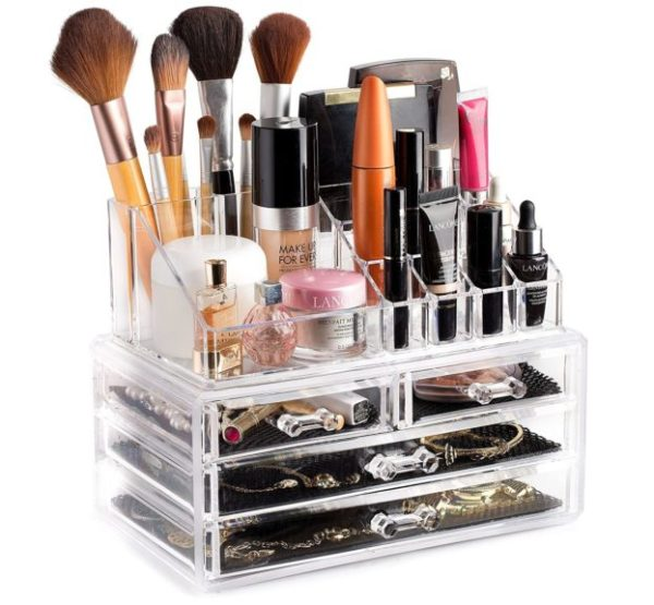 4. Clear Cosmetic Storage Organizer - Easily Organize Your Cosmetics