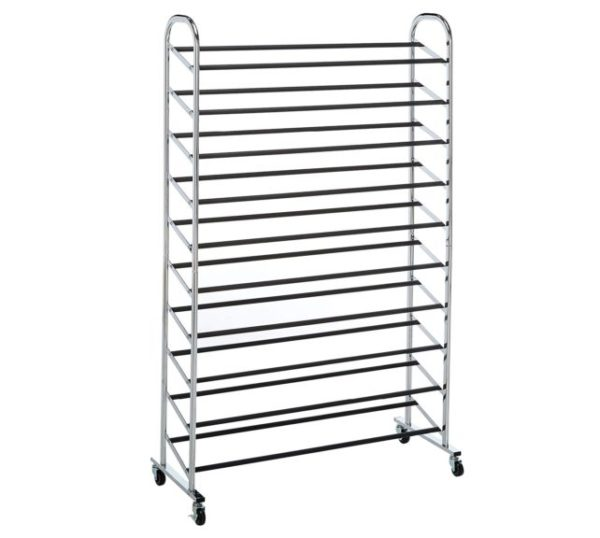 4. Whitmor 10 Tier Shoe Tower - 50 Pair - Rolling Shoe Rack with Locking Wheels