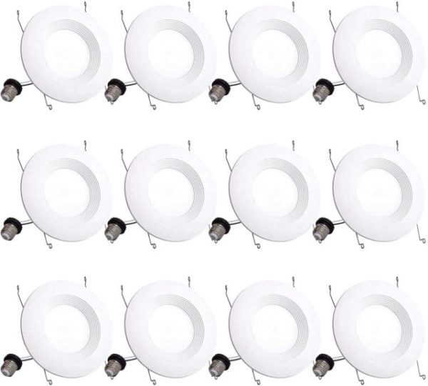5. Bbounder Lighting 12 Pack 5,6 Inch LED Recessed Downlight