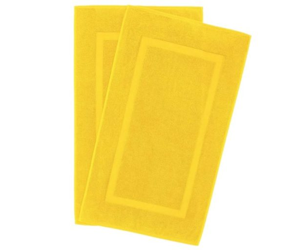 7. 900 GSM Machine Washable 20x34 Inches 2-Pack Banded Bath Mats
