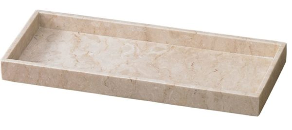 8. Creative Home Champagne Marble Vanity Tray