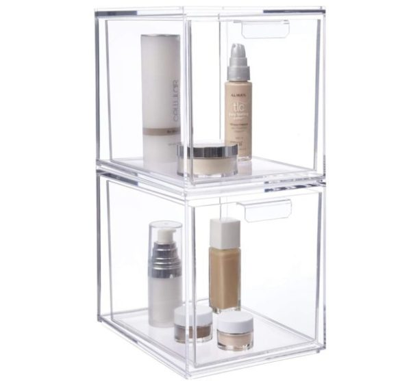 8. STORi Audrey Stackable Cosmetic Organizer Drawers 6-3,4 Tall